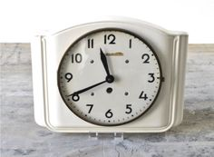Porcelain clocks Germany | ... clock pottery Schwarzmüller pottery white ceramic office Made in