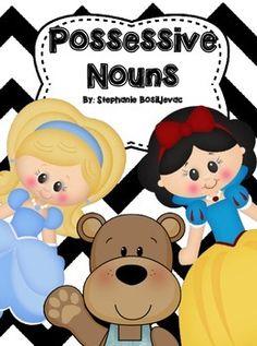 Possessive Nouns (Mini-Book and Games, Fairy Tale Theme) Fairy Tale Theme, Fairy Tales, Possessive Nouns, 2nd Grade Activities, 2nd Grade Reading, I Am Game, Mini Books, First Grade, Grammar