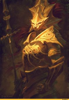 "Shop ""Dragon Slayer Ornstein"" - Print from Juan Acosta Ilustrador in Digital, available on Tictail from Dark Fantasy, Medieval Fantasy, Fantasy Art, Dark Souls 2, Ornstein Dark Souls, Rpg Cyberpunk, Soul Saga, Bloodborne Art, Dragon Slayer"