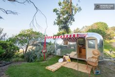 """Another renovated vintage Airstream on the beach in Rye, AU -- this one named """"Norma Jean."""""""