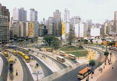 Bandeira Square in the 70's - Sao Paulo, Brazil