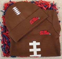 Show your love for the game when your baby wears this Ole Miss football gift set. Made to play! Share the Legacy!