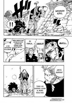 El abuelo de Ajeel Ramal no deja que el pelee contra Fairy Tail - Fairy Tail Manga 521