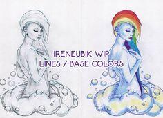 I'm painting this humanized version of Rainbow Dash. I've already done the base colors, and I hope to finish it by tomorrow 🌈    #sketch #wip #traditional #pencil #digital #progress #progression #stages #drawing #rainbow #fantasy #female #rainbowdash #gijinka #humanization #humanized #inspiration #mlp #nude #classicnude #portrait #cute #kawaii #sexy #elegant #art #ireneubik