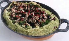 Percebes a la sal con algas codium.  Restaurante Alborada