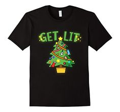 239476cd960 Men s Get Lit Christmas Tree T-Shirt - Xmas Get Stoned Fu…