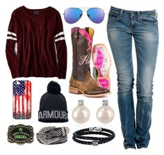 """""""Loveeeeeeeeee"""" by im-a-jeans-and-boots-kinda-girl on Polyvore featuring American Eagle Outfitters, Replay, Forzieri, Under Armour, Casetify, Phillip Gavriel, BKE and John Deere"""