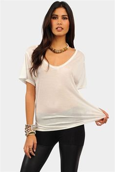 Classic V Tee - Ivory always a sexy look