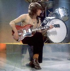 Mick Taylor with the Rolling Stones on The David Frost Show, 16 June 1969.