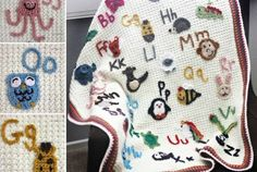 Alphabet Crochet Blanket