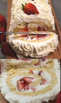 Easy Desserts, Delicious Desserts, Yummy Food, Light Summer Desserts, Jello Desserts, Summer Dessert Recipes, Frozen Desserts, Cake Roll Recipes, Frosting Recipes