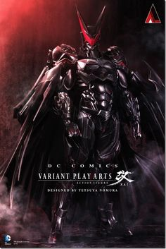 "A surreal take on Batman, part of the ""DC Comics Variant Play Arts Action Figure"" series, by 'Final Fantasy Designer' and Square Enix artist Tetsuya Nomura"