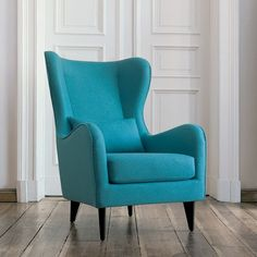 chartreuse green finnegan wingback chair | wingback chairs, mid