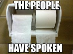 putting toilet paper on right