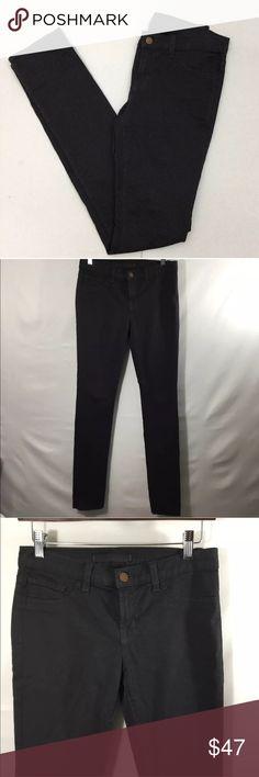 "J brand skinny pants greyhound pencil leg Sz 27 J brand skinny pencil leg pants in grayhound. Cotton.  Excellent used condition.  Measurements  Waist 14"" Inseam 34"" Rise 7.5"" Smoke free home J Brand Pants Skinny"
