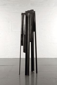 or stainless steel patinated by Andrew Webb titled: 'Tall Shard (Contemporary Columnar Vertical sculpture)'. Electric Ballroom Camden, Abstract Sculpture, Sculpture Art, Steel Sculpture, Metal Sculptures, Victorian Radiators, Steel Paint, Steel Fabrication, Steel Doors