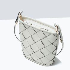 crossbody bag in Zara Bags, Zara New, Zara Shoes, Braided Leather, Zara Women, Beautiful Bags, Fashion Bags, Crossbody Bag, Leather Crossbody