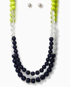 charming charlie   Mod Ball Necklace Set   UPC: 410006740396 #charmingcharlie