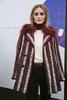 Olivia Palermo - Tommy Hilfiger Fall 2015 Women's Collection Front Row - February 16, 2015