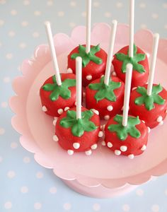 Strawberry Inspired Party | Cake Pops