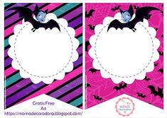 Mamá Decoradora: Kit Imprimible Vampirina Gratis Vampire Party, Remember Day, Cookies For Kids, Kid Character, Disney Junior, Alice, Party Themes, Party Ideas, Party Printables