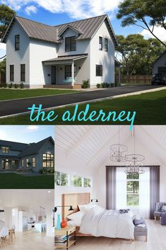 Alderney Modern Farmhouse Two Story Plan With Vaulted Ceilings And 4 Bedrooms Designurban Farmhouserustic Home