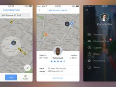 Dribbble - Taxi App iOS9 Redesign by Konstantin Vorontsov