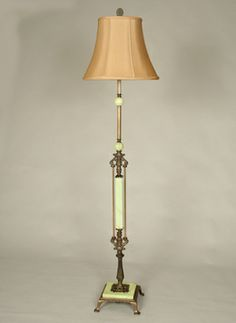 Vintage Multicolored Painted Wooden Table Floor Lamp, c. 1950. www ...