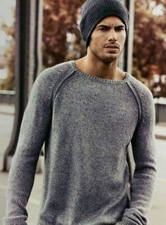 Winter cool grey LOVE THIS SWEATER ON A FIT GUY