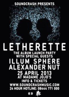 Letherette Album Launch Party - Madame Jojo's, London - 25 April 2013