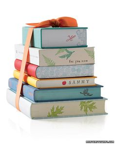 LOVE the idea of stamping the ends of books...