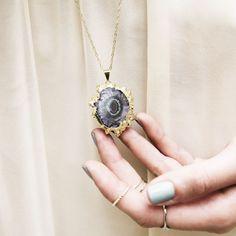 Amethyst Geode Necklace, Alexandra Beth Designs