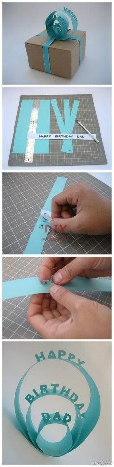 Cool gift wrap idea!