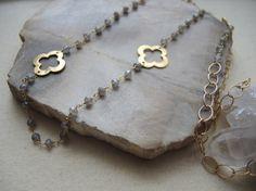 Labradrite Necklace 14K Gold Filled Long by GemJewelrybyHWestNY, $110.00