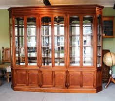 Mahogany display cabinet with bevelled glass #bespokefurniture #berkshire