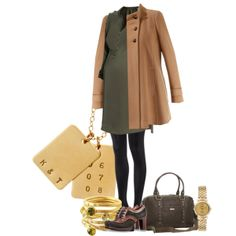 """Pea Coat - Maternity Set"" by mystyletrends on Polyvore"