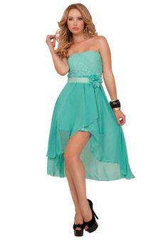 dresses teens high low  | ... mint green high low party special occasion dresses 2014 - 2015 dress