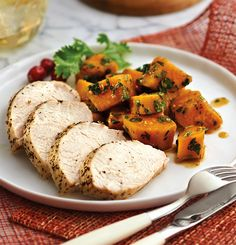 Turkey Tenderloin. Turkey's not just for Thanksgiving; it's a fantastic source of lean protein. Served with spicy sweet potatoes laced with Latin flair, this isn't your typical holiday meal! #smartsteamer