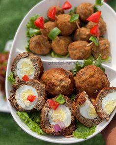 Jollof Rice, Scotch Eggs, Muffin, Tasty, Snacks, Breakfast, Ethnic Recipes, Food, Morning Coffee
