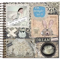An art collage from December 2012 Journal Pages, Polyvore, Design, Art, Art Background, Kunst, Performing Arts, Art Education Resources
