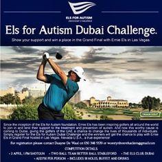 We're proud to be a partner of the Els for Autism event at the Els Club Dubai April 2nd, register to play #dubai #abudhabi #golf #uaegolf #uae #emirates #golfer #golfing #mydubai #socialgolf #sun #happy #like #smile #instagood #instagolf #love