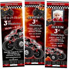 Race Car Birthday Invitation PRINTABLE Birthday Party