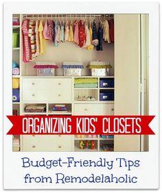 Organizing Kids Closet 10 Tips! remodelaholic.com #kids #organizing #closets