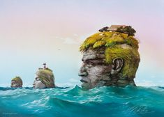 The new official website of the German artist and painter Carl-W. With gallery, painting seminars, art shop, calendar and news. Online Gallery, Art Gallery, Magic Realism, Poster Pictures, Impressionism, Creative Art, Surrealism, Mount Rushmore, Spirit