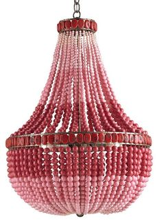 Flamingo Chandelier The Marjorie Skouras Collection design by Currey & Company  #pink