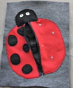 cute ladybug quiet book page