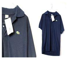 Lacoste NWT Navy Blue Polo Shirt Medium Mens Sport Golf Tshirt Button up Casual Navy Blue Polo Shirts, Beaded Flapper Dress, Sport Golf, Golf T Shirts, Work Casual, Blue Shorts, Lacoste, Casual Shirts, Button Up