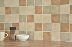 Ceramic Tile retailer, importer and distributor - Tiles 4 All Brown Kitchen Tiles, Brown Kitchens, Kitchen Wall Tiles, Modern Kitchen Design, Interior Design Kitchen, Kitchen Designs, Light Yellow Walls, Kitchen Window Sill, Kitchen Table Chairs