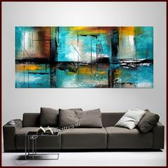 Large ABSTRACT PAINTINGS Original Modern Art on by largeartwork