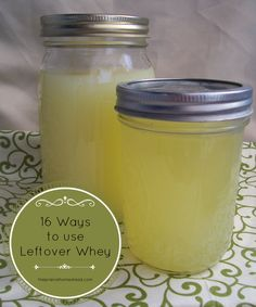 16 ways to use leftover whey. See the full list---> I always have whey when I… Whey Recipes, Goat Milk Recipes, No Dairy Recipes, Cheese Recipes, Whole Food Recipes, Healthy Recipes, Cheese Dips, Dip Recipes, Homemade Yogurt
